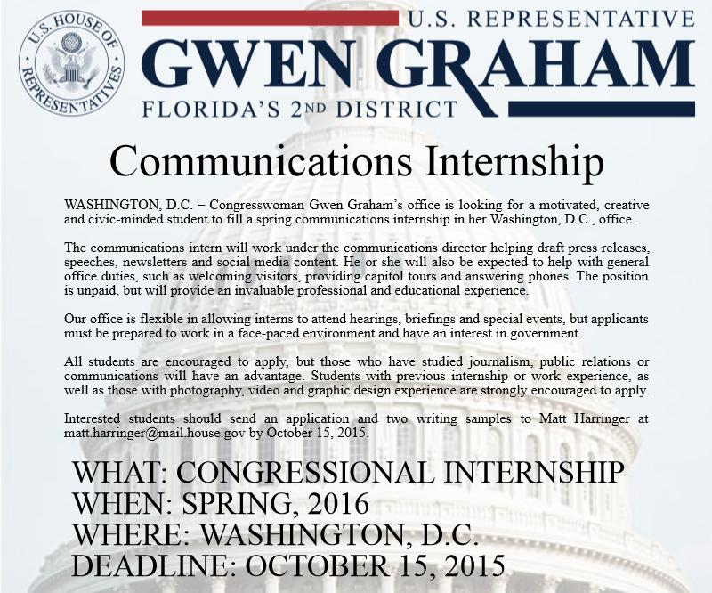 Communications Internship - Updated